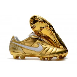 Nike Tiempo Legend 7 R10 FG New Soccer Boots - Gold White