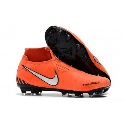 Nike Phantom VSN Elite DF FG New Boots - Orange Black Silver