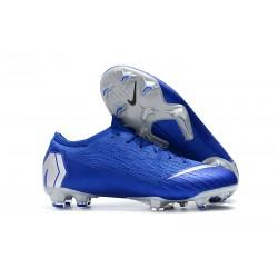Nike Mercurial Vapor 12 Elite FG Mens Soccer Boots - Blue Silver