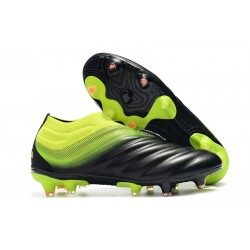 New Adidas Copa 19+ FG Soccer Shoes - Black Volt