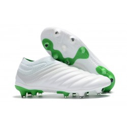 New Adidas Copa 19+ FG Soccer Shoes - White Green