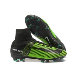 Nike Mercurial Superfly V FG Soccer Cleats - Green Black