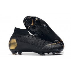Nike Mercurial Superfly VI Elite FG Football Boots - Black Gold
