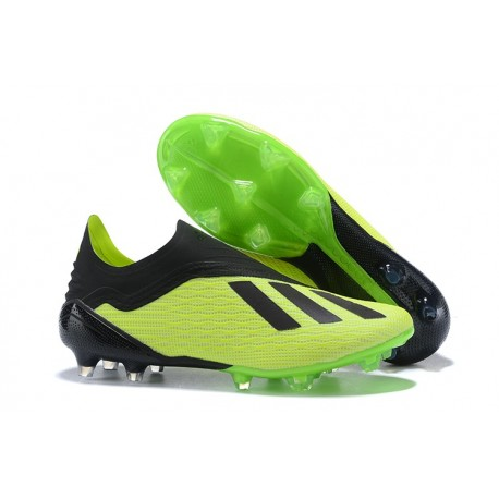 micro Continuar Sitio de Previs  adidas X 18+ FG Firm Ground Cleats - Green Black