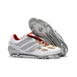 New adidas Predator Accelerator Electricity FG Boots - Gray Red Gold