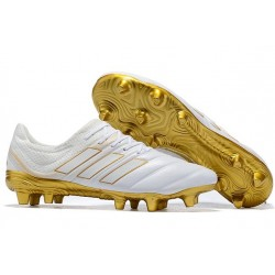 New adidas Copa 19.1 FG Soccer Shoes - White Gold
