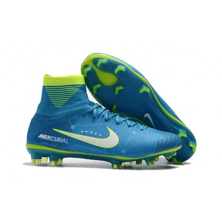 best loved 5b2a2 4b388 Neymar Nike Mercurial Superfly 5 FG Firm Ground Boots - Blue