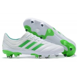 New adidas Copa 19.1 FG Soccer Shoes - White Green