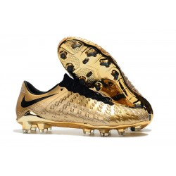 Nike Hypervenom Phantom III FG Soccer Shoes - Gold Black