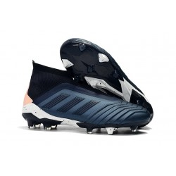 New adidas Predator 18+ FG Firm Ground Boots - Cyan Black