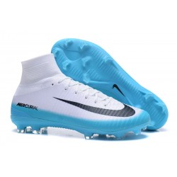 Nike Mercurial Superfly 5 FG Firm Ground Boots - White Blue