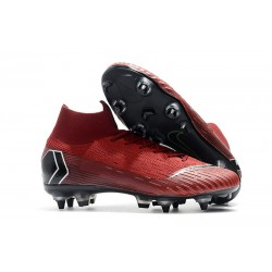 Nike Mercurial Superfly VI Elite SG-Pro AC Boots Red Black