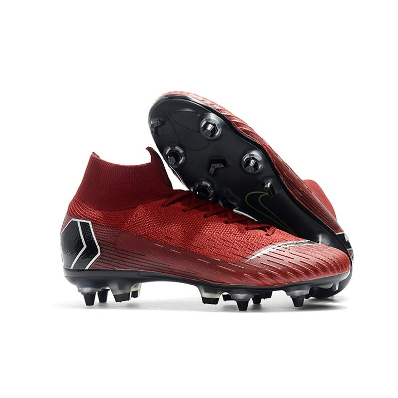Inolvidable vídeo Vinagre  Nike Mercurial Superfly VI Elite SG-Pro AC Boots Red Black