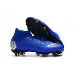 Nike Mercurial Superfly VI Elite SG-Pro AC Boots Blue Silver