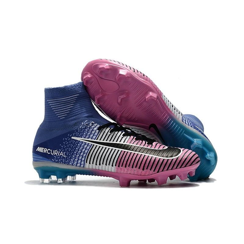 low priced 5004d ff45f Nike Mercurial Superfly 5 FG Firm Ground Boots - Blue Pink Black