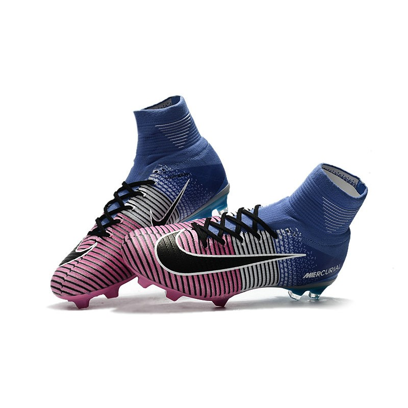 a3d48dac69ba Nike Mercurial Superfly 5 FG Firm Ground Boots - Blue Pink Black