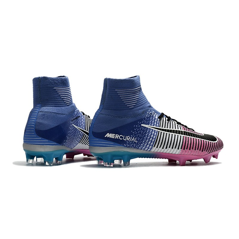 e307c2cda Nike Mercurial Superfly 5 FG Firm Ground Boots - Blue Pink Black