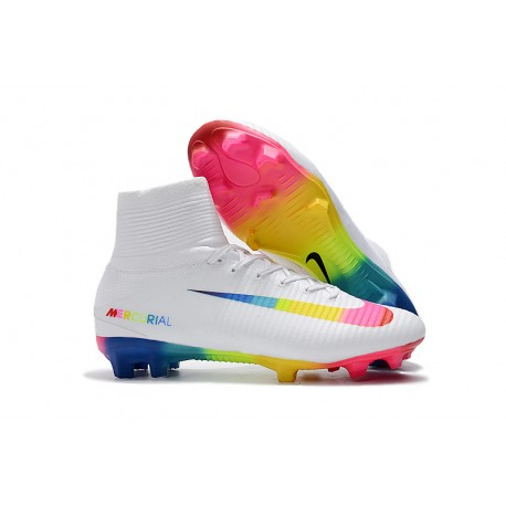 cc89e625f907 Nike Mercurial Superfly 5 FG Firm Ground Boots - White Colorful