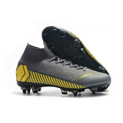 New Nike Mercurial Superfly 6 Elite SG-Pro AC Grey Yellow