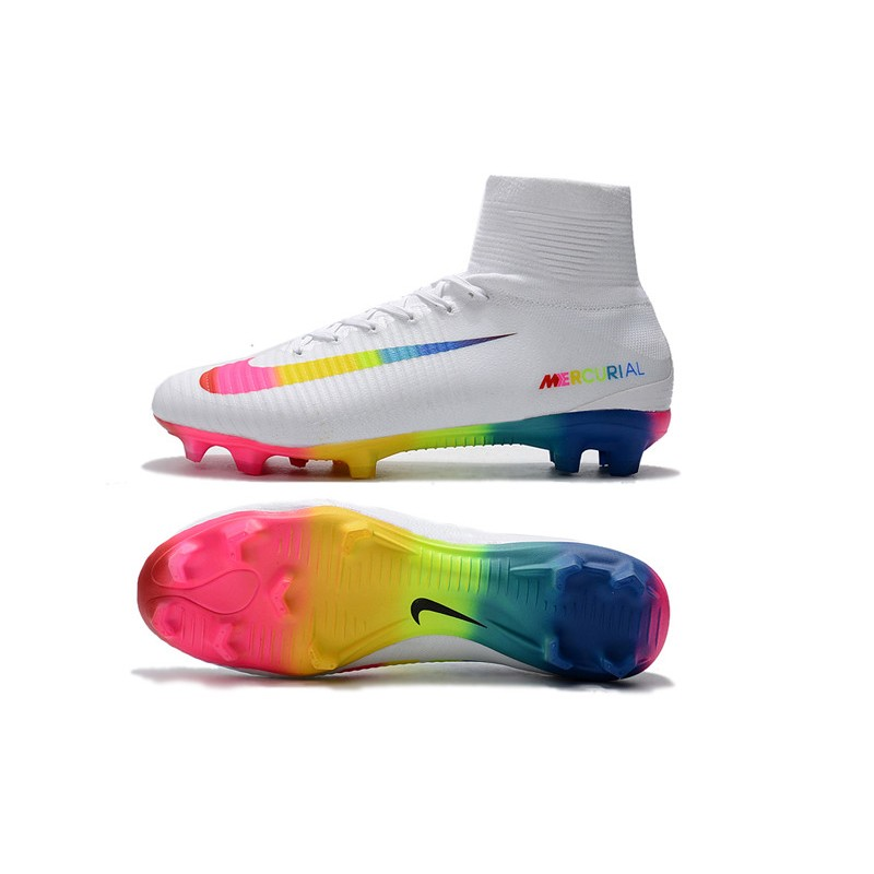 55d0b718e Nike Mercurial Superfly 5 FG Firm Ground Boots - White Colorful