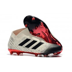 Adidas Nemeziz 18+ FG Mens Boots - White Black Red