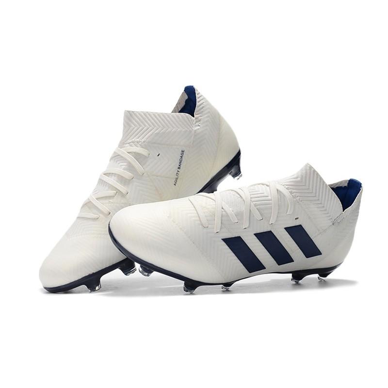 3d60d1620c36 adidas Nemeziz 18.1 Messi FG Firm Ground Boots - White Black