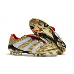 New Adidas Predator Accelerator FG Shoes Golden White