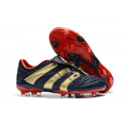 New Adidas Predator Accelerator FG Shoes Blue Gold Red