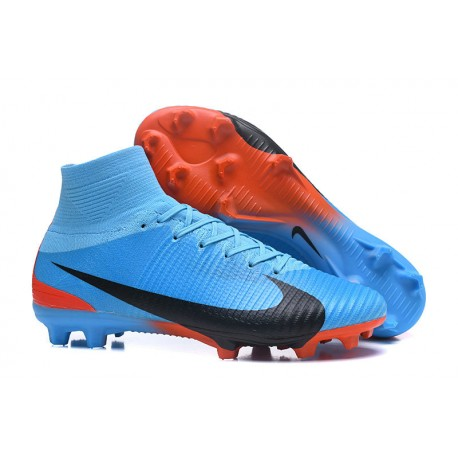 sports shoes 9fa4b 86af3 Nike Mercurial Superfly 5 FG Firm Ground Boots - Blue Red