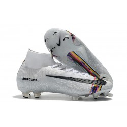 Nike Mercurial Superfly VI Elite FG Football Boots -Silver Black