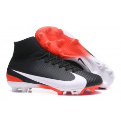Nike Mercurial Superfly 5 FG Firm Ground Boots - Black Red White
