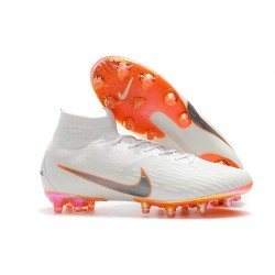 Nike Mercurial Superfly VI Elite AG-Pro Cleats White Orange
