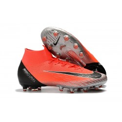 Nike Mercurial Superfly VI Elite AG-Pro Cleats Crimson Silver Black