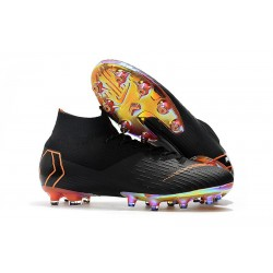Nike Mercurial Superfly VI Elite AG-Pro Cleats Black Orange