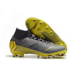 Nike Mercurial Superfly VI Elite AG-Pro Cleats Thunder Grey Gold
