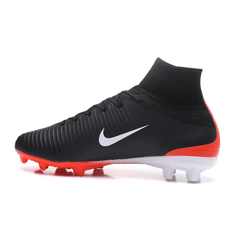 wholesale dealer f9b44 64b74 Nike Mercurial Superfly 5 FG Firm Ground Boots - Black Red White