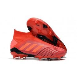 New adidas Predator 19+ FG Soccer Boots - Red
