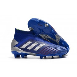 New adidas Predator 19+ FG Soccer Boots - Blue Silver