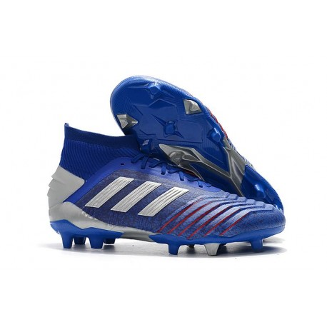 New adidas Predator 19.1 FG Firm Ground Boots - Blue Silver