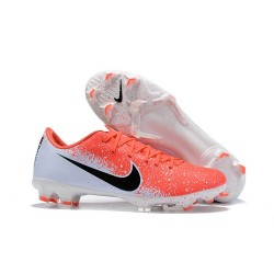 Nike Mercurial Vapor 12 Elite FG Mens Soccer Boots - Crimson White Black