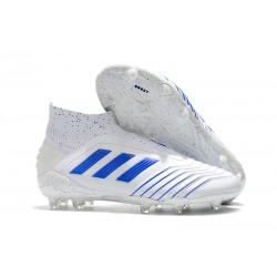 New adidas Predator 19+ FG Soccer Boots - Virtuso White Blue