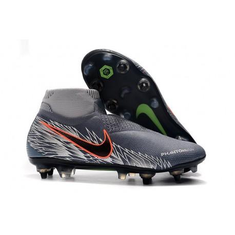 Nike Phantom Vision Elite DF SG-PRO Anti-Clog Grey Silver