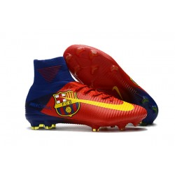 Nike Mercurial Superfly V FG Dynamic Fit Cleat - Barcelona Red