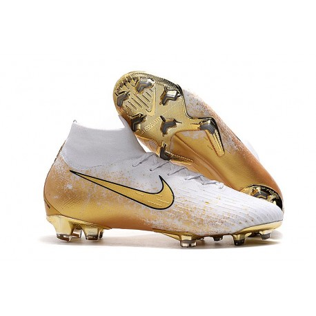 Nike Mercurial Superfly VI Elite FG Football Boots - White Golden