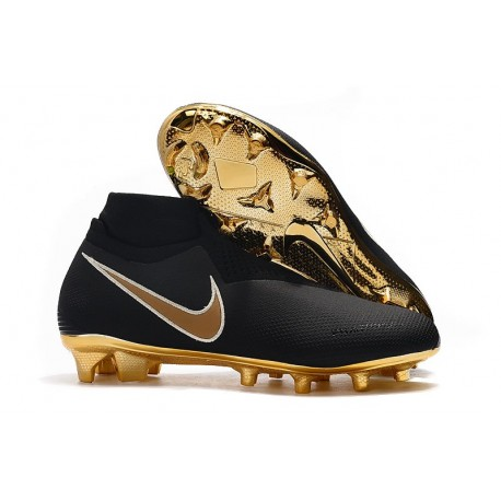 Nike Phantom VSN Elite DF FG New Boots - Black Golden