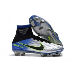 Neymar Nike Mercurial Superfly V FG Dynamic Fit Cleat - Silver Black