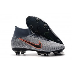 New Nike Mercurial Superfly 6 Elite SG-Pro AC Wolf Grey Orange