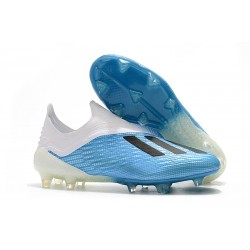 adidas X 18+ FG Firm Ground Cleats - Blue White Black