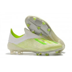 adidas X 18+ FG Firm Ground Cleats - White Green