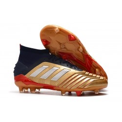 New adidas Predator 19.1 FG Firm Ground Boots - Gold Red Silver